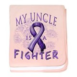 My Uncle Is A Fighter baby blanket