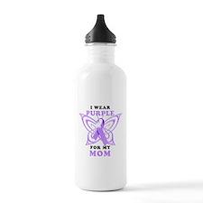 I Wear Purple for My Mom Water Bottle