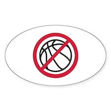 No basketball Decal