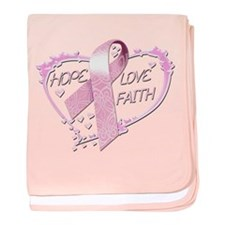 Hope Love Faith baby blanket