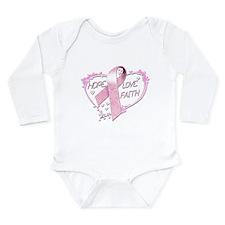 Hope Love Faith Long Sleeve Infant Bodysuit