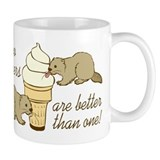 2 Beavers Small Mug