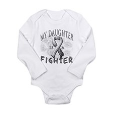 My Daughter Is A Fighter Long Sleeve Infant Bodysu