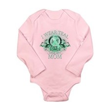 I Wear Teal for my Mom Long Sleeve Infant Bodysuit