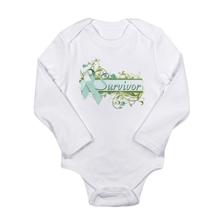 Survivor Floral Long Sleeve Infant Bodysuit