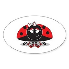 Little Ladybug Oval Decal