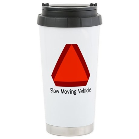 Slow Moving Vehicle 1 Ceramic Travel Mug