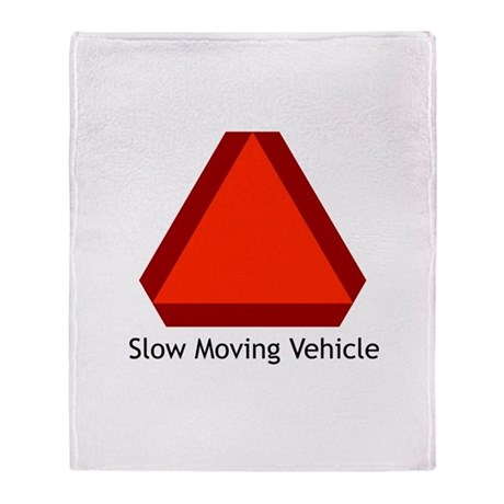 Slow Moving Vehicle 1 Throw Blanket