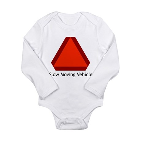 Slow Moving Vehicle 1 Long Sleeve Infant Bodysuit