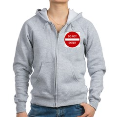 Do Not Enter 1 Women's Zip Hoodie