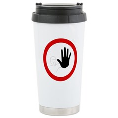 Restricted Access Sign Ceramic Travel Mug
