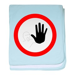Restricted Access Sign baby blanket