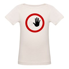 Restricted Access Sign Organic Baby T-Shirt