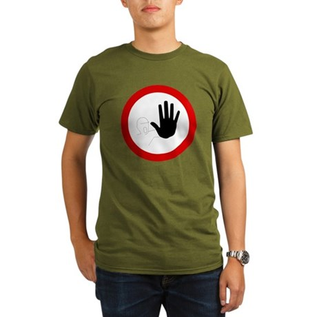 Restricted Access Sign Organic Men's T-Shirt (dark