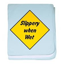 Slippery When Wet 2 baby blanket