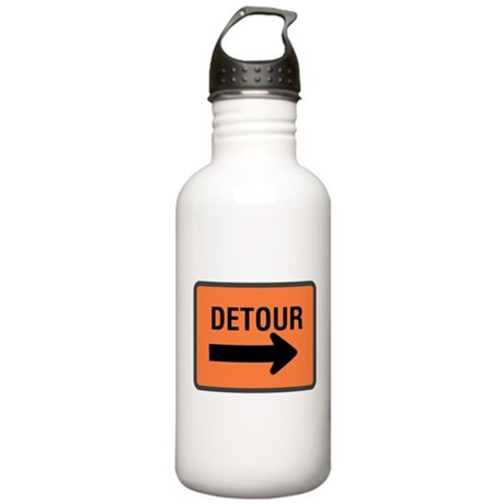 Detour Sign Stainless Water Bottle 1.0L