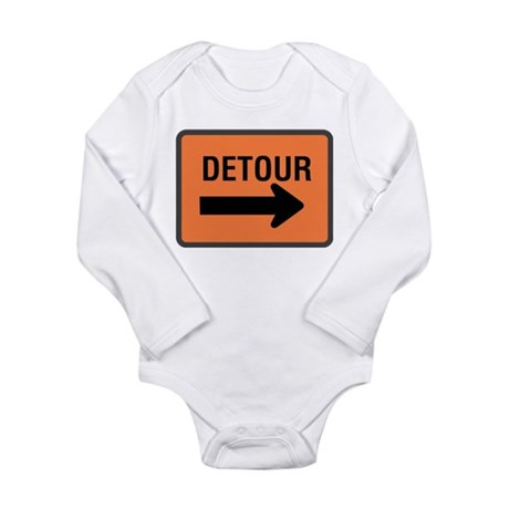 Detour Sign Long Sleeve Infant Bodysuit