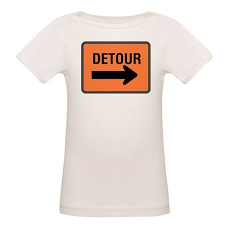 Detour Sign Organic Baby T-Shirt