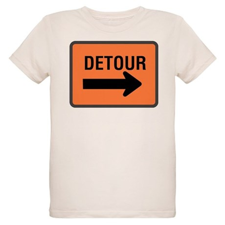 Detour Sign Organic Kids T-Shirt