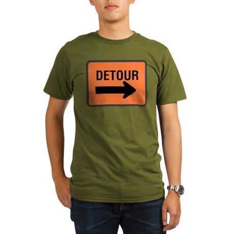 Detour Sign Organic Men's T-Shirt (dark)