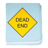 Dead End Sign baby blanket