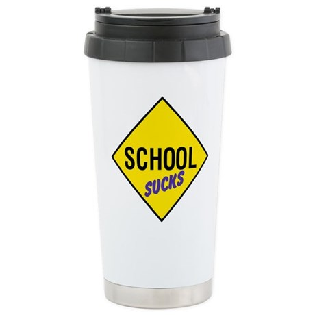School Sucks Ceramic Travel Mug