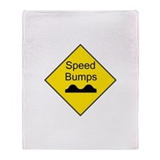 Speed Bumps Sign Throw Blanket