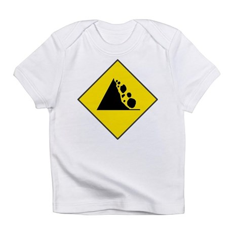 Fallign Rocks Sign Infant T-Shirt