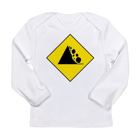 Fallign Rocks Sign Long Sleeve Infant T-Shirt