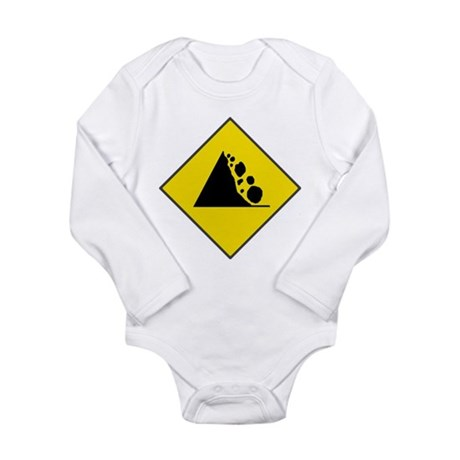 Fallign Rocks Sign Long Sleeve Infant Bodysuit