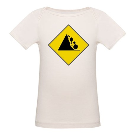 Fallign Rocks Sign Organic Baby T-Shirt