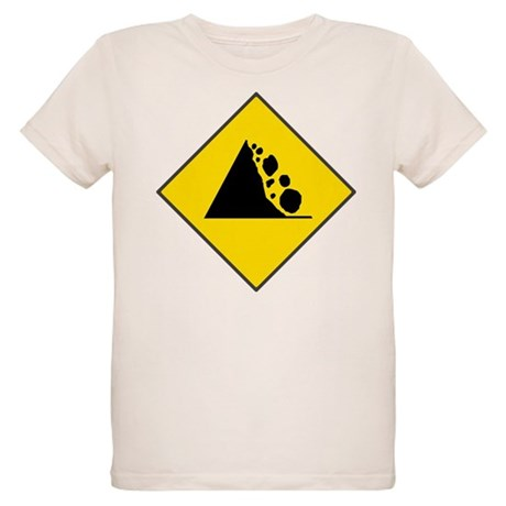 Fallign Rocks Sign Organic Kids T-Shirt