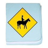 Horse Crossing Sign baby blanket