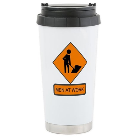 Men at Work 2 Ceramic Travel Mug