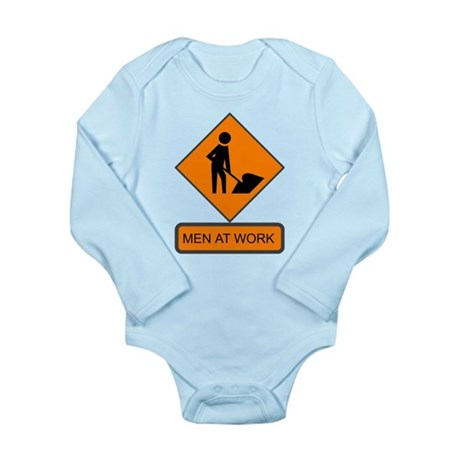 Men at Work 2 Long Sleeve Infant Bodysuit