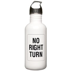 No Right Turn Sign Stainless Water Bottle 1.0L