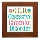 Cute Cupcake Framed Tile