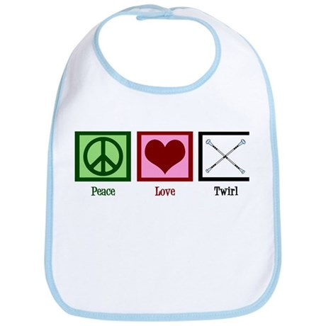 Peace Love Twirl Bib