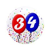 "34th Birthday 3.5"" Button (100 pack)"