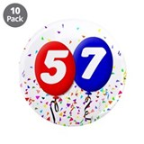 "57th Birthday 3.5"" Button (10 pack)"