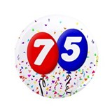 "75th Birthday 3.5"" Button"