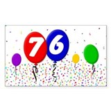 76th Birthday Decal