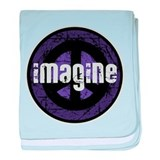 Imagine Peace Vintage baby blanket