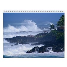 Hawaii Big Surf Wall Calendar