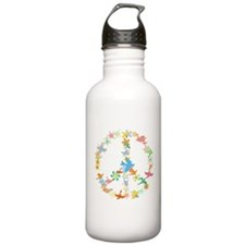 Abstract Art Peace Sign Sports Water Bottle