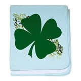 Lucky Irish Clover baby blanket