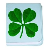 Lucky Four Leaf Clover Irish baby blanket