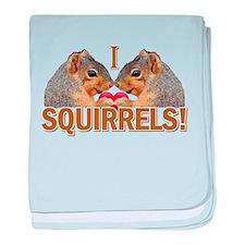 I Heart / Love Squirrels! baby blanket