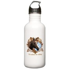 I'd Rather Be Riding Horses Sports Water Bottle
