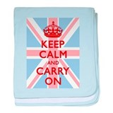 Keep Calm and Carry On baby blanket
